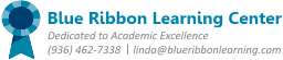 Blue Ribbon Learning Center Logo - Educational Services, Tutoring, and Dyslexia Therapy